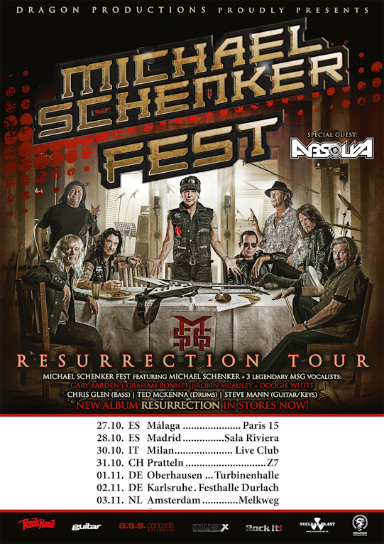 Absolva : special guests with Michael Schenker Fest in Europe